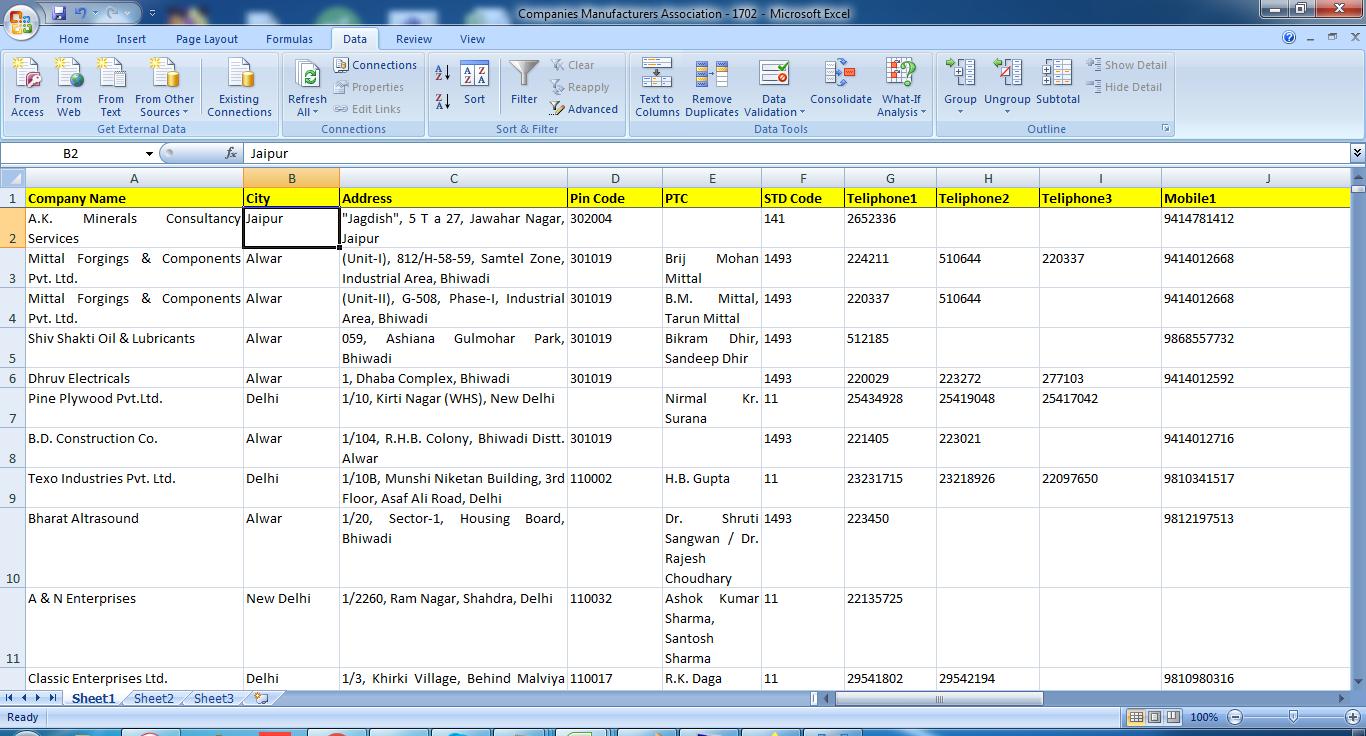 B2B & B2C Email Database India